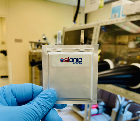 Sionic Energy Launches to Commercialize Next-Generation Lithium-Ion Battery Cells
